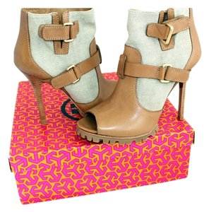 Tory Burch Oatmeal & Camel Boots