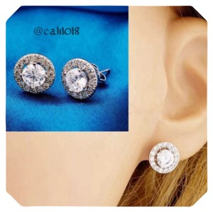 Other Platinum Triple Plated Zircon Stud Earrings