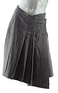 Brunello Cucinelli Gunex Wrap Skirt Brown Taupe White Tweed