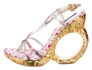 Louis Vuitton Pink and gold Wedges