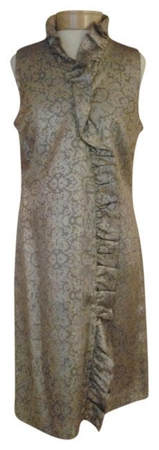 Preload https://item3.tradesy.com/images/eliza-j-new-york-metallic-evening-fully-lined-dress-bronze-and-silver-1212702-0-0.jpg?width=400&height=650