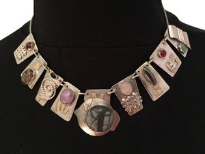 Other One-Of-A-Kind Artisan Contemporary Sterling Silver, 18k Gold, Multi-Precious Gemstones