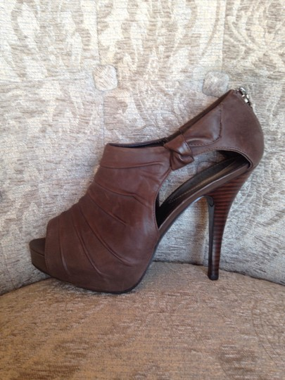 Guess Peep Toe Platform Stiletto Brown Boots