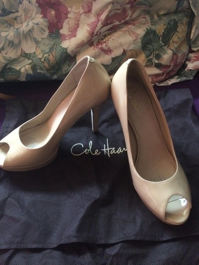 Cole Haan Nude Patent Leather Pumps Image 1