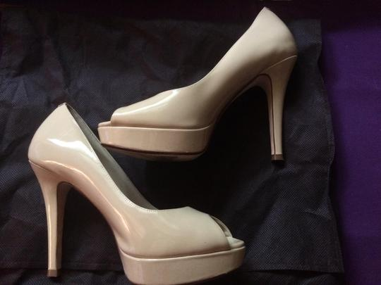 Cole Haan Nude Patent Leather Pumps Image 2