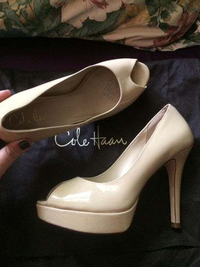 Cole Haan Nude Patent Leather Pumps Image 4