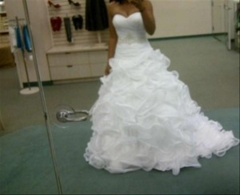 Ruffle Ball Gown Wedding Dress: Galina Ball Gown With Embellished Waist And Ruffled Skirt