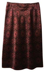 New York & Company Skirt Maroon