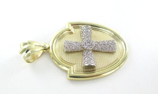 CAL 10kt Solid Yellow Gold Pendant with a Stunning Zirconia Cross Image 1