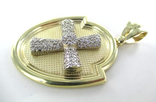 CAL 10kt Solid Yellow Gold Pendant with a Stunning Zirconia Cross Image 2