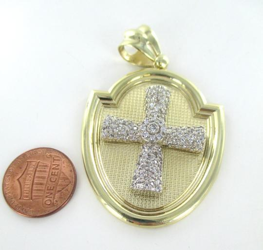 CAL 10kt Solid Yellow Gold Pendant with a Stunning Zirconia Cross Image 3