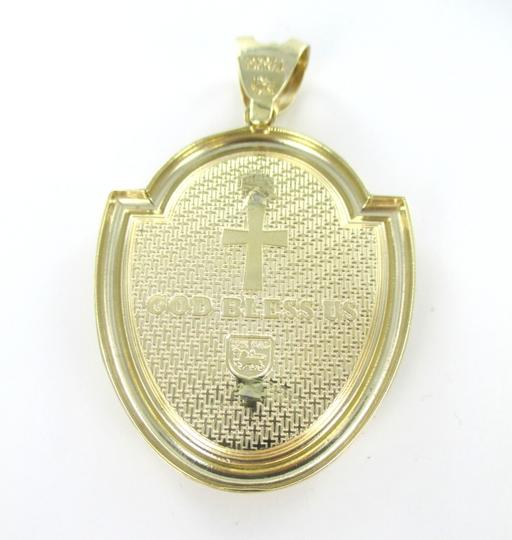 CAL 10kt Solid Yellow Gold Pendant with a Stunning Zirconia Cross Image 4