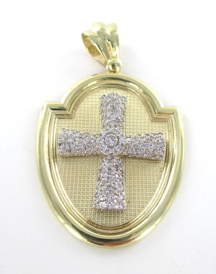 CAL 10kt Solid Yellow Gold Pendant with a Stunning Zirconia Cross
