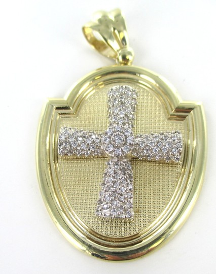 CAL 10kt Solid Yellow Gold Pendant with a Stunning Zirconia Cross Image 6