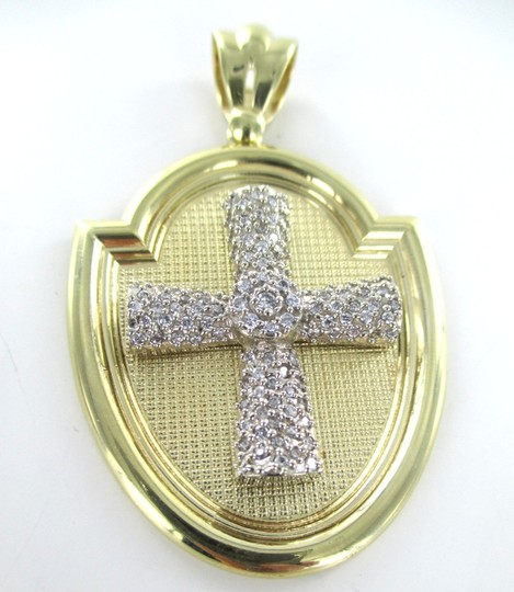 CAL 10kt Solid Yellow Gold Pendant with a Stunning Zirconia Cross Image 7