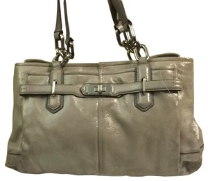 Coach Satchel in Platinum