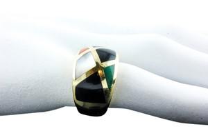 Asch-Grossbardt Asch Grossbardt Ring Handcrafted multi-stone Inlayed Gold Ring