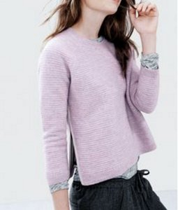 J.Crew Zipper Lavender Sweater