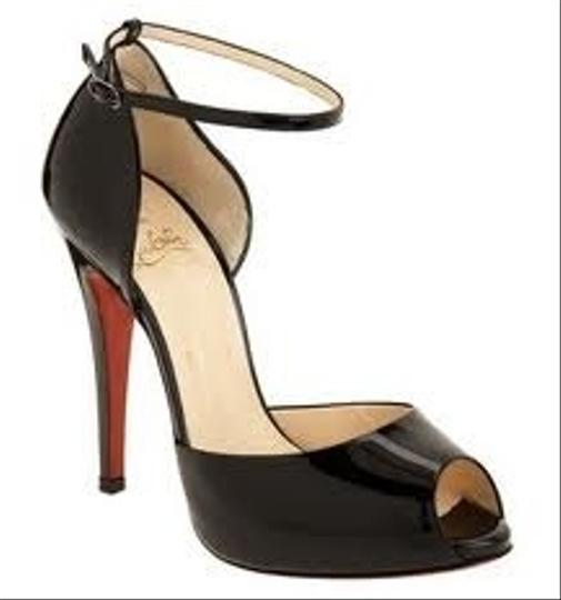 Christian Louboutin Burgundy Patent Leather Pumps