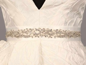Your Dream Dress Exclusive B560 Bridal White Embellished Bridal Sash