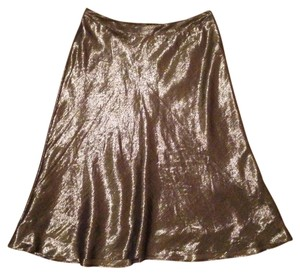 Banana Republic Skirt Silver Metallic