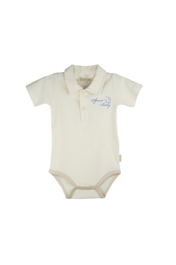 Eotton Certified Organic Cotton Baby Bodysuit - Sport Baby - Small (3-6 Months)