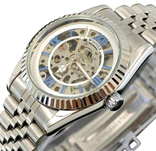 Winner Stunning Automatic Mechanical Watch With Rich Silver Face