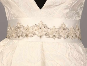 Your Dream Dress Exclusive B602 Bridal White Embellished Bridal Sash
