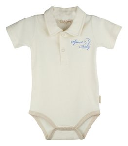 Eotton Certified Organic Cotton Baby Bodysuit - Sport Baby - Medium (6-9 Months)