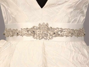 Your Dream Dress Exclusive B564 Bridal White Embellished Bridal Sash