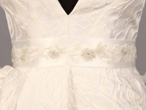 Your Dream Dress Exclusive B515 Bridal White Embellished Bridal Sash