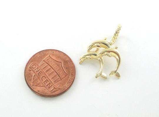 Other 14kt Solid Yellow Gold Pendant 3 Dolphins