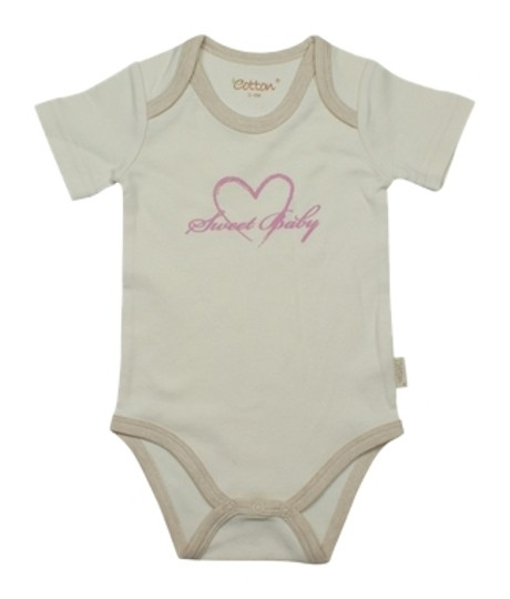 Eotton Certified Organic Cotton Toddler Bodysuit -Sweet Baby - xSmall (0-3 Months)
