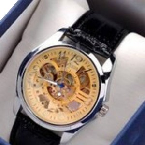 MCE Gold Skeleton Fashion Men's Automatic Watch-FREE SHIPPING 1/2 PRICE