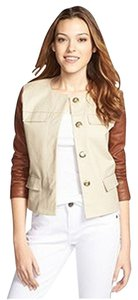 Michael Kors Coat Leather SAND Leather Jacket