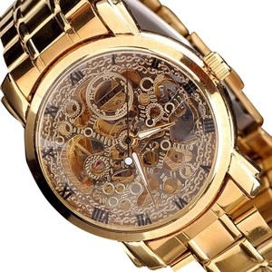 MCE Gold Eye Catching Men's Automatic Gold Watch