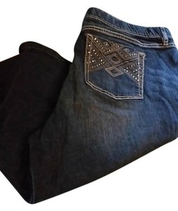 Apt. 9 Capri/Cropped Denim-Dark Rinse