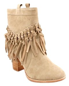 Madison Harding Suede Leather Beige Boots
