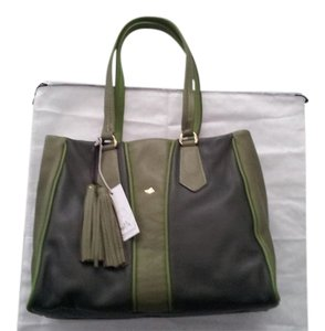 Bruno Rossi Leather Tote in Green