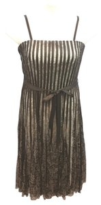 Sandra Darren Brown Stretchy Belted Dress