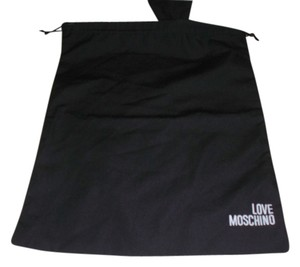 Moschino New Love Moschino Sleeper/ Dust Bag / Protective Cover 11 inch width x 15 inch length. Black with White Logo Drawstring bag.