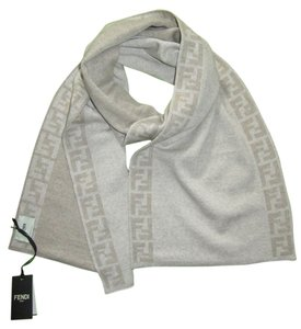 Fendi New FENDI 100% wool ivory/tan scarf