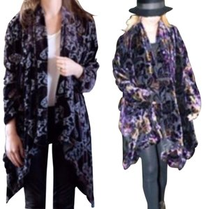 Winter Kate Crushed Velvet Velvet House Of Harlow Nicole Richie Cardigan