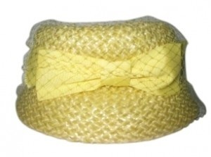 Union Made Vintage Yellow Straw Hat with Bow