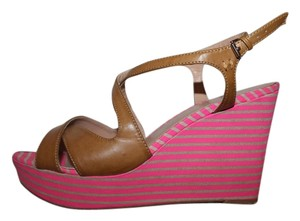Tommy Hilfiger Pink and Brown Wedges
