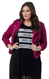 Torrid Winter Jacket Textured Moto Jacket 3x Coat