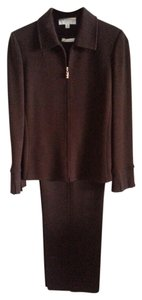 St. John RESERVE FOR VICKI Luscious Dark Chocolate Brown 3/PC St. John Pants Suit