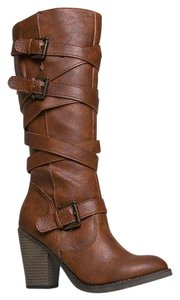 Madden Girl Closed-toe High Brown Boots
