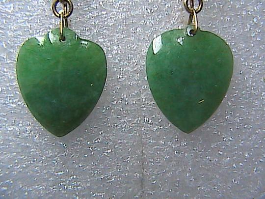 Other Beautiful Vintage 14k Solid Yellow Gold Heart Dangle Screw Back Earrings