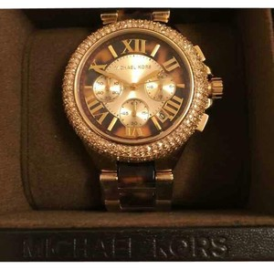 Michael Kors Collection NWT MK Camille gold glitz chronograph watch Mk5901